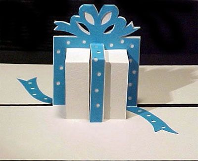 Diy Gift Box Shape Popup Card Pattern Pepakura Corner Pop Up Card Templates Diy Christmas Cards Paper Crafts Cards