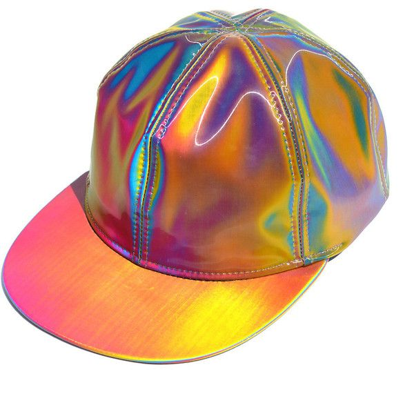 Holographic Hat Back To The Future Marty McFly Lenticular Hologram... (1.810 RUB) ❤ liked on Polyvore featuring accessories, hats, snapback hats, cotton hat and snap back hats