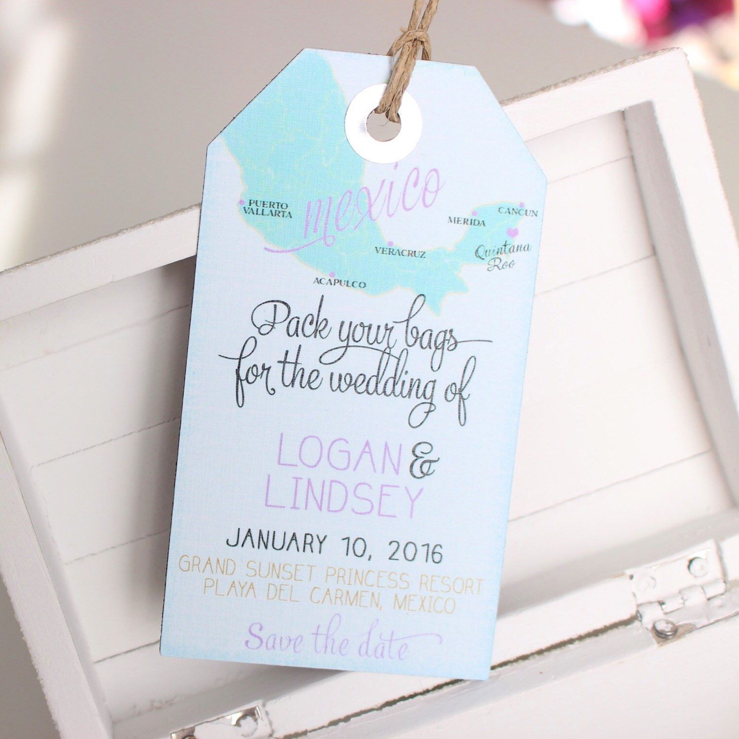 details about salty kisses save the date for wedding abroad wedding invitation cancun playa del carmen save the date luggage tag magnet passport stamp