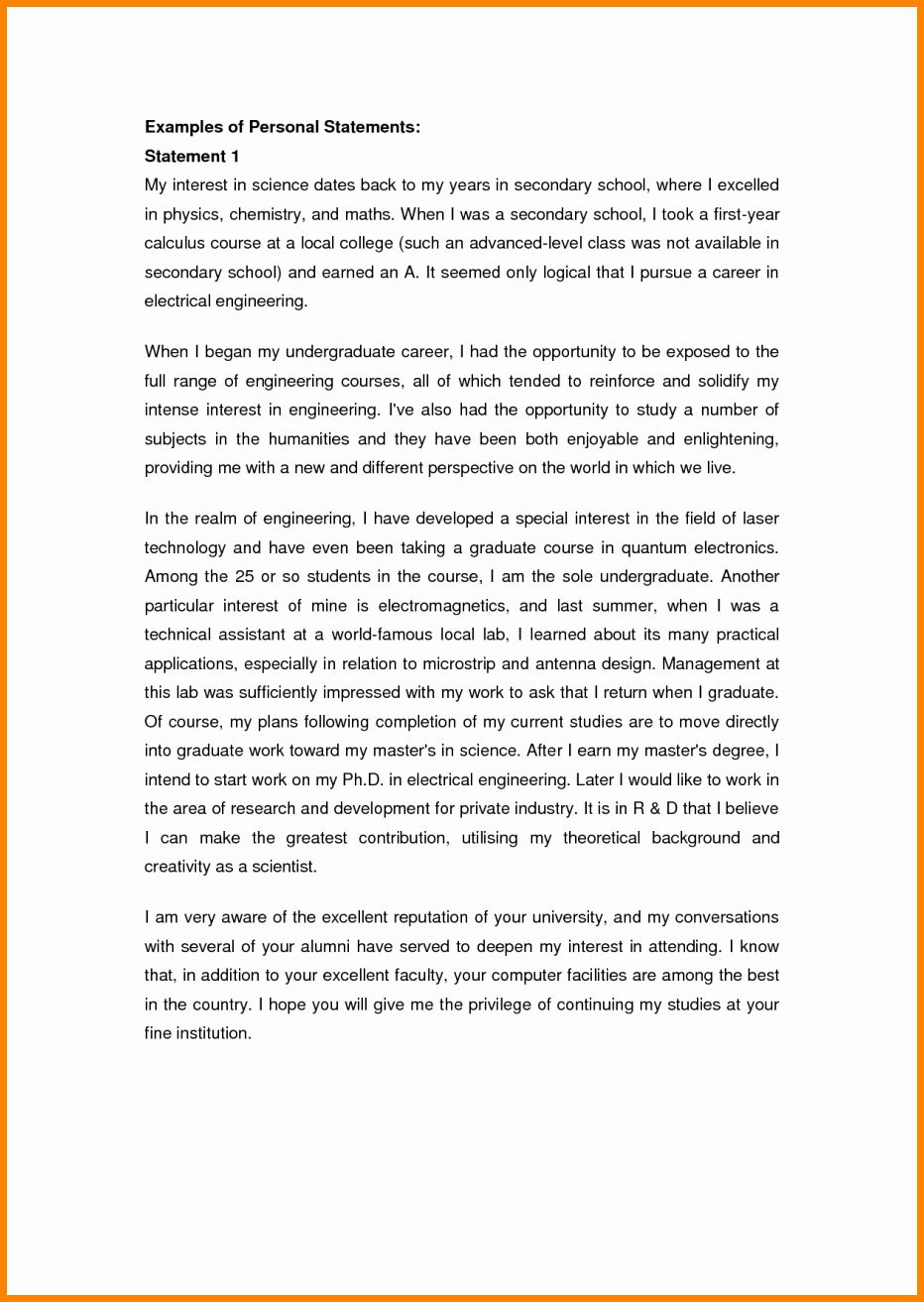 Personal Essay For College Format Unique 5 Sample Statement Scholarship Forensic Psychology Master Example