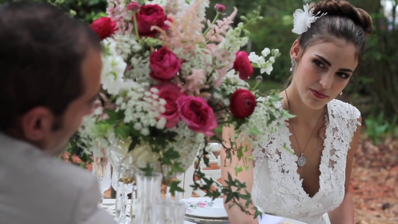 "VIDEO of Inspiration Photo Shoot with Fairbanks Florist, Bumby Photography, A Chair Affair, Mobella Events - Bonnie Dutka, Harmony Gardens - Denise Wilson and ""Rex""  The Horse, Harmony N Love Catering and Events, Grace and Marc Kosmider, Jennifer Welsh with Over the Top Linens, Dogwood Blossom Stationary and Invitations - Leah Thomas, Marigold Scott Hair and Makeup, Alejandra Maddox with Everything Cake, LA Bridal and Mary with Key Moment Films."