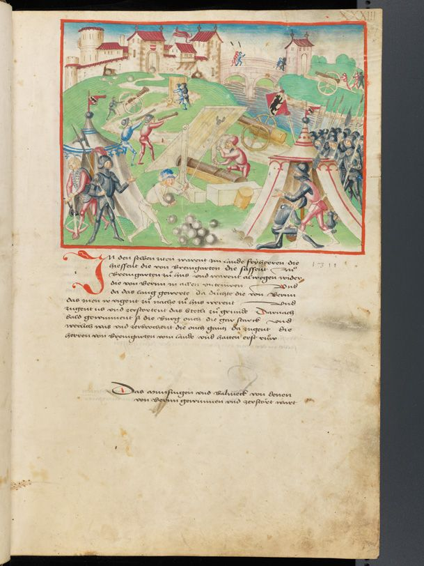 Bern, Burgerbibliothek, Mss.h.h.I.1, f. 67 – Diebold Schilling, Amtliche Berner Chronik, vol. 1