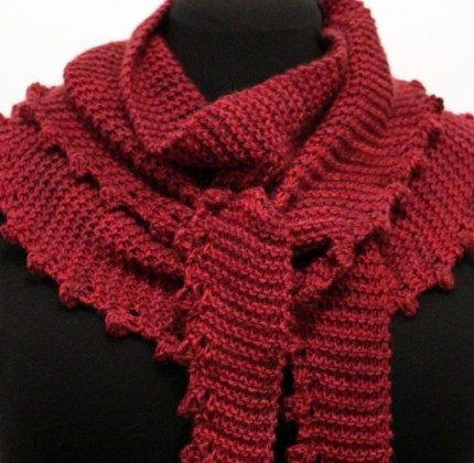 Minnie Scarf, free, aran wt. | Knitting patterns free ...
