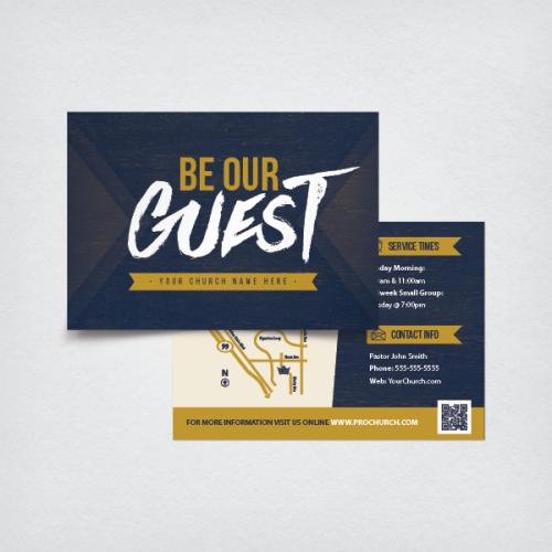 Church Invitation 5x3 5 - Be Our Guest | Church design