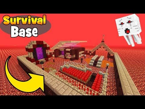 Minecraft Tutorial: How To Make A Nether Survival Base