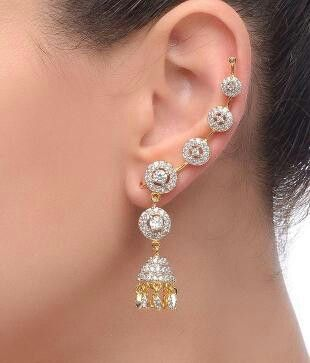 b743d86af Jhumka CZ Earring cuffs By Chaahat m.snapdeal.com/product/jhumka-cz-earring -cuffs-by/2140750451