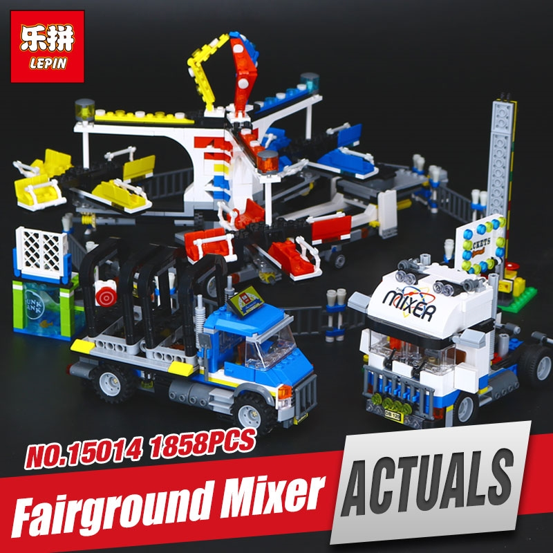 76.00$  Watch now - http://alier2.shopchina.info/1/go.php?t=32788177827 - Lepin 15014 1858Pcs Street Series The Amusement Park Giant Stride Carnival Set Building Blocks Bricks Funny Toys Gift 10244 76.00$ #magazineonlinebeautiful