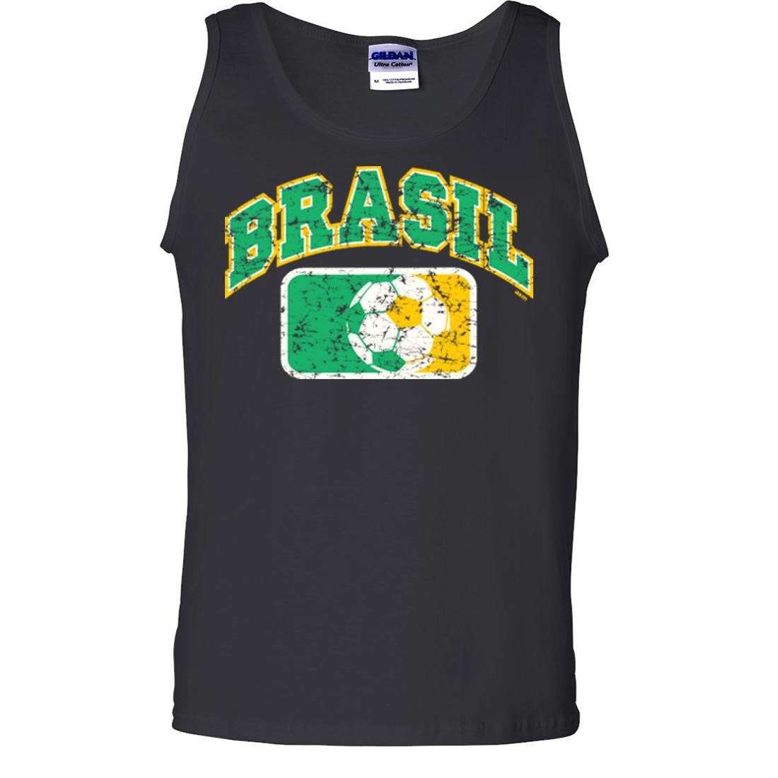 Brasil Vintage Soccer Futbol Team Asst Colors Tank Top