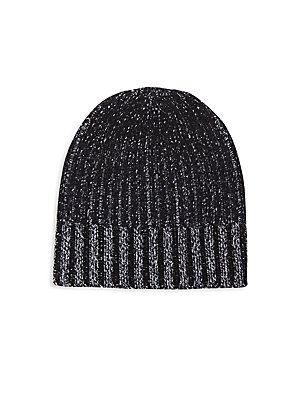 Saks Fifth Avenue Collection Ribbed Woolen Hat - Black