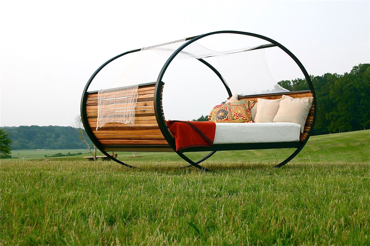"""the-august: MOOD ROCKING BED""""Mood Rocking Bed by Joe Manus for shinerinternational. Bed can be left to rock or locked in any position with rubber stops. This is the ultimate bed for everything you do in bed. Dream your dreams, love your lover and rest your soul in the Mood Rocking Bed."""" from ShinerInternational"""