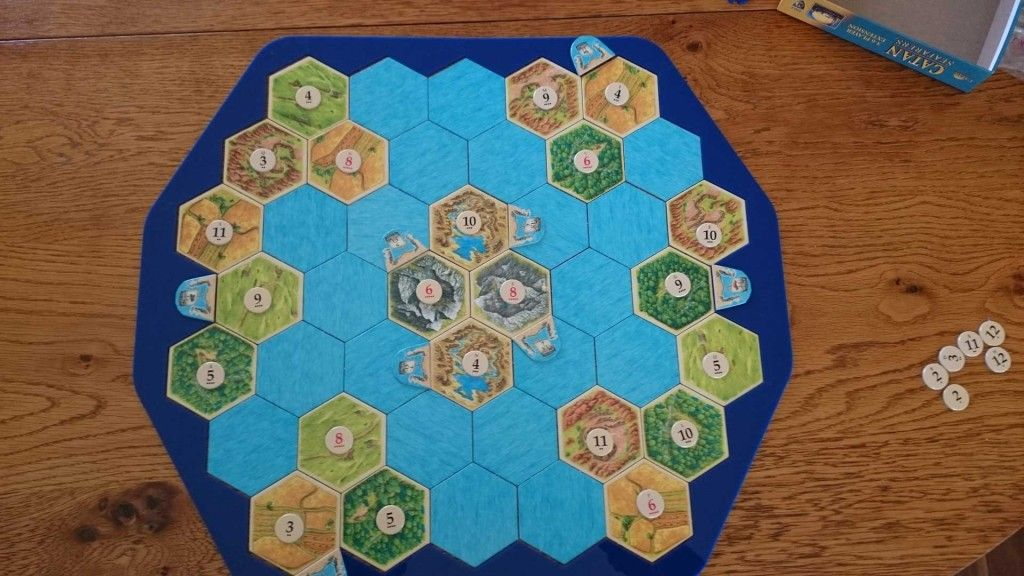 Settlers of Catan Board Race to Cities of Gold Catan board