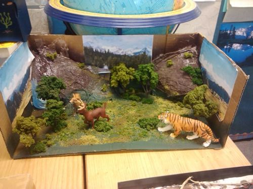 Kids Diorama With Details: Grassland Shoebox Project - Google Search