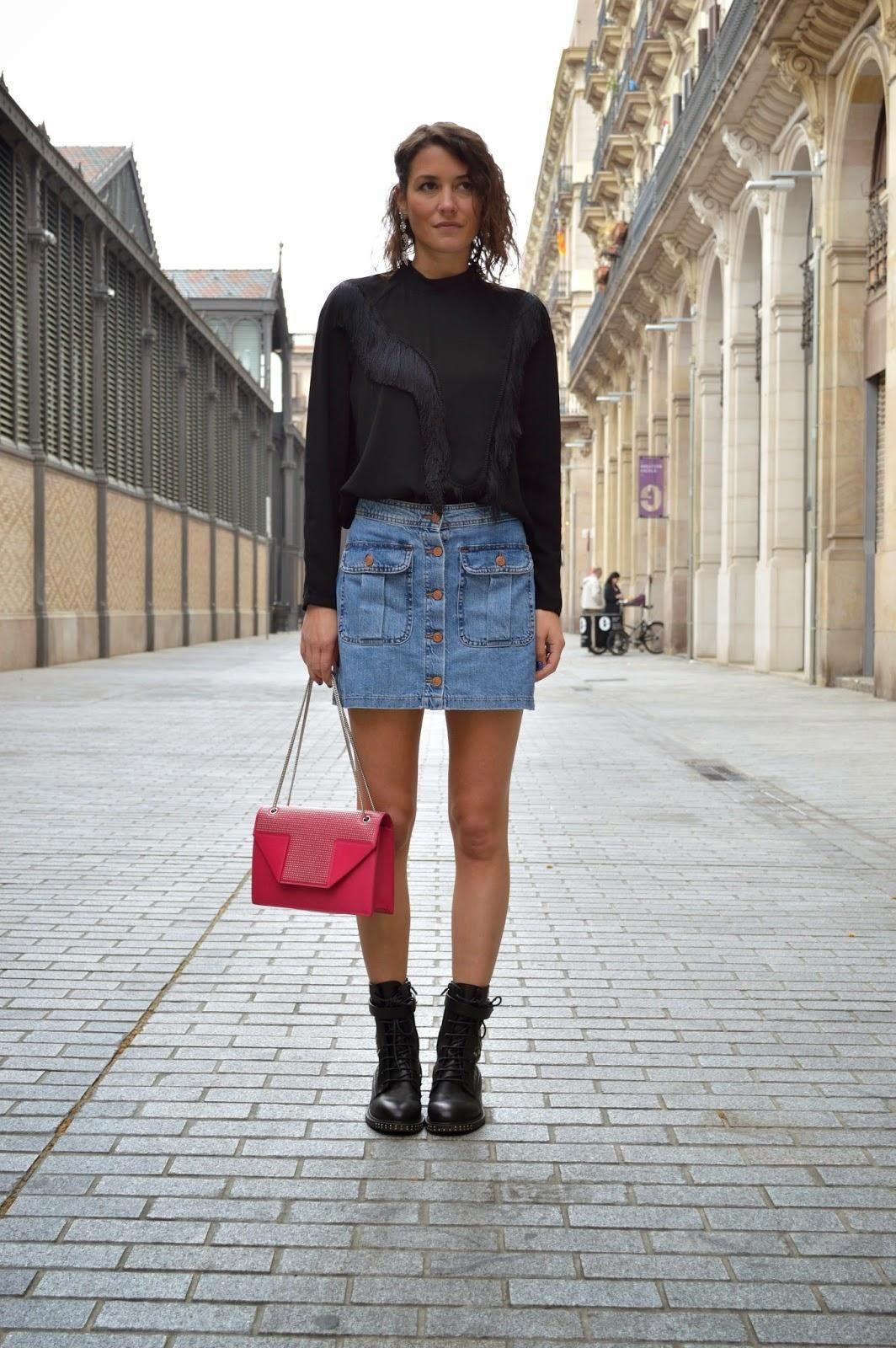 20 modern ways to style a denim skirt for fringe