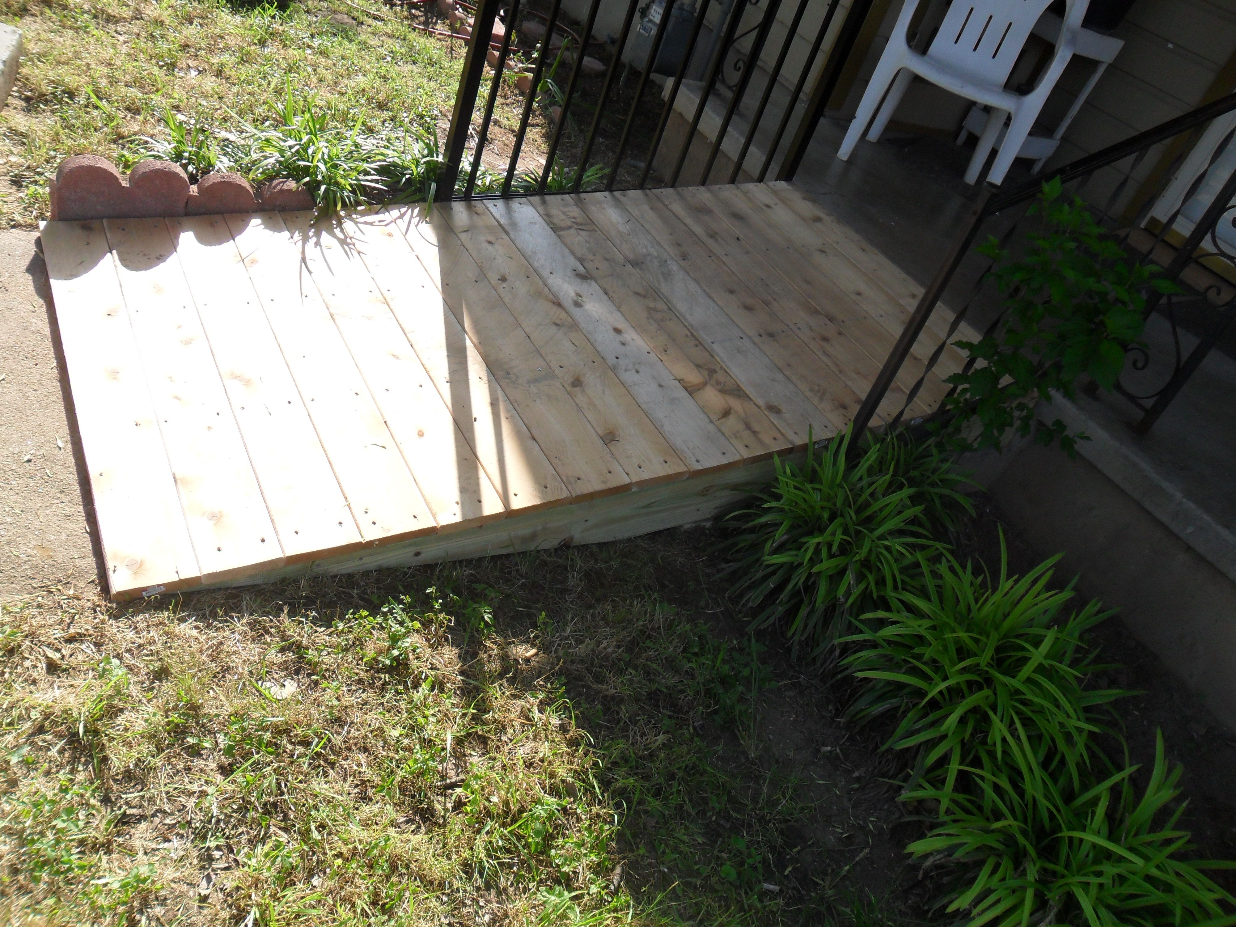 Build a Wooden Ramp How To Build A Shed Ramp DIY