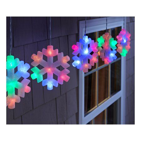 Philips 5ct Multicolor Led Color Changing Snowflake