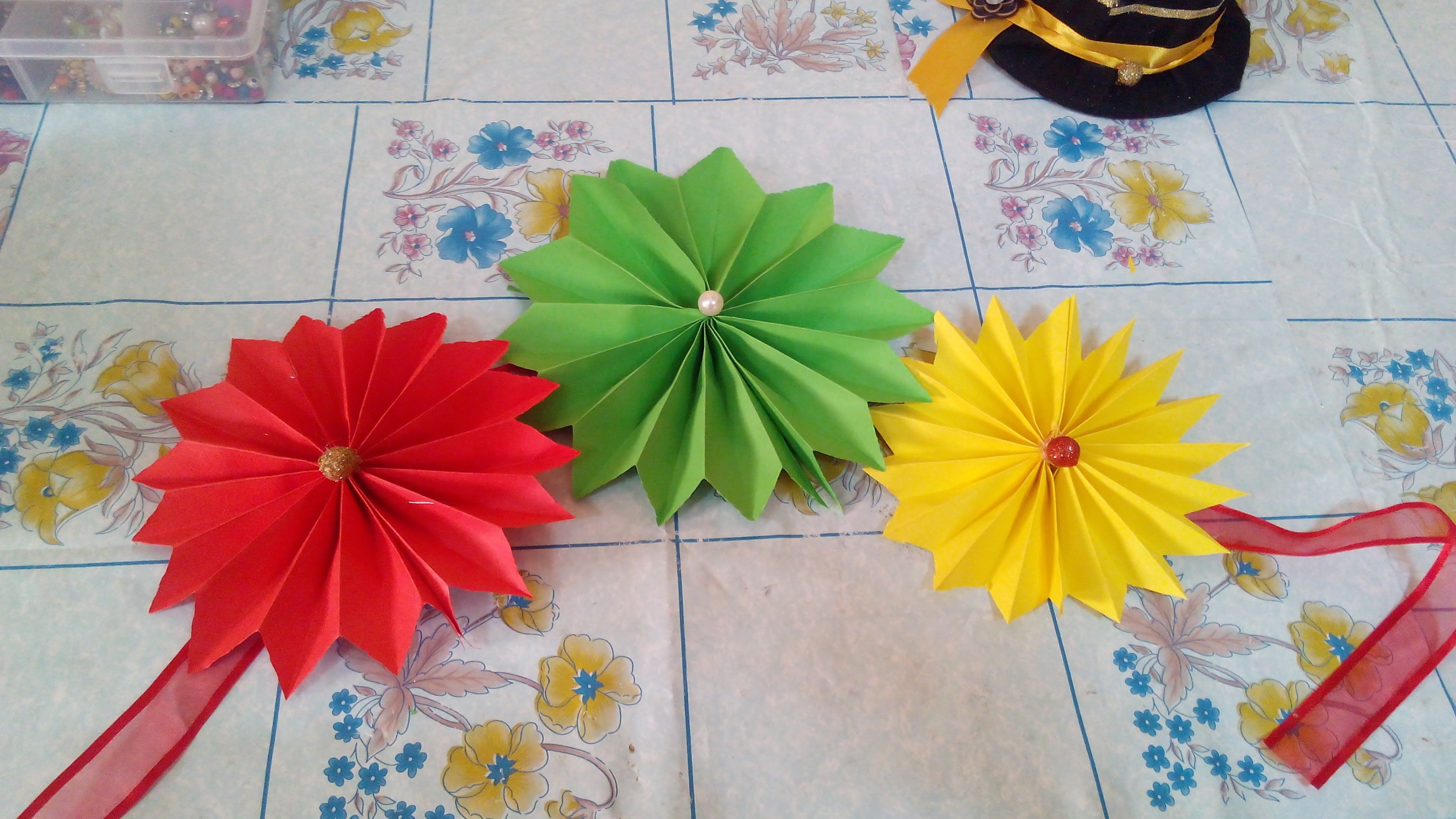 Amazing DIY Room Decoration With Paper Flower   DIY Room Decoration With Paper F..