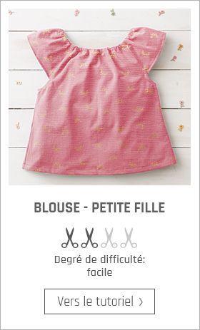 Coudre blouse petite fille - patron gratuit