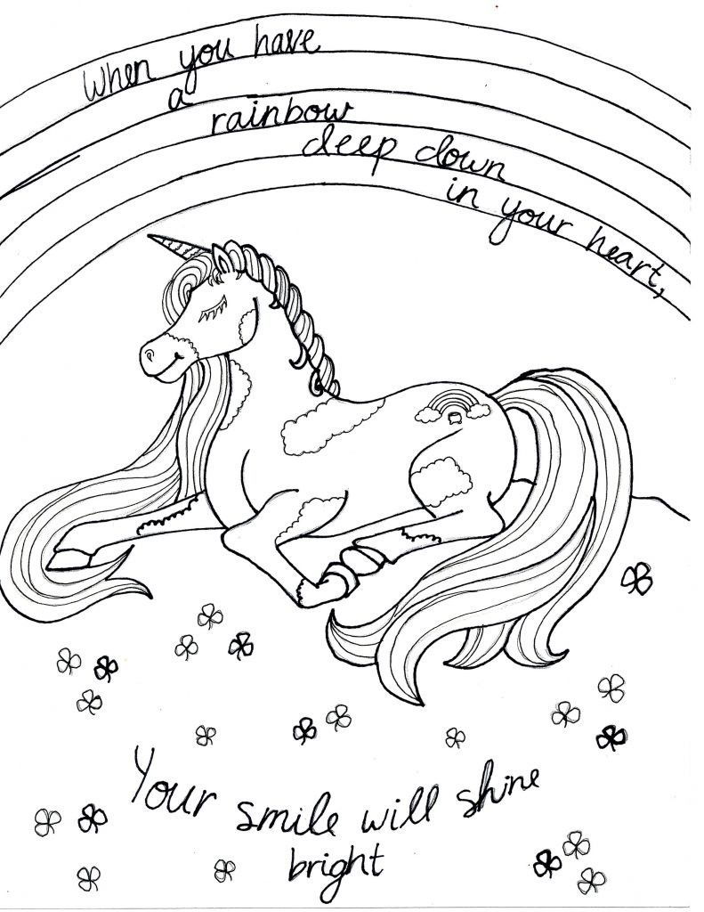 Rainbow Unicorn Coloring Page Youngandtae Com Unicorn Coloring Pages Mermaid Coloring Pages Owl Coloring Pages