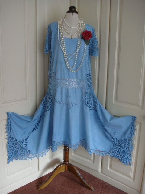 Awesome Etsy listing at https://www.etsy.com/listing/205525805/magnificent-sky-blue-downton-abbey