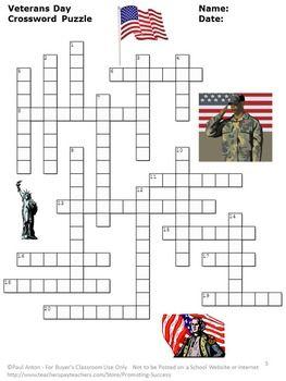 Outstanding Veterans Day Activities Crossword Puzzle Veterans Day Download Free Architecture Designs Itiscsunscenecom