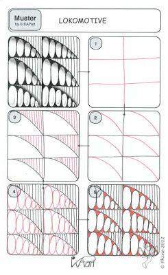 Neues Muster – LOKOMOTIVE | Zendoodle-Wege