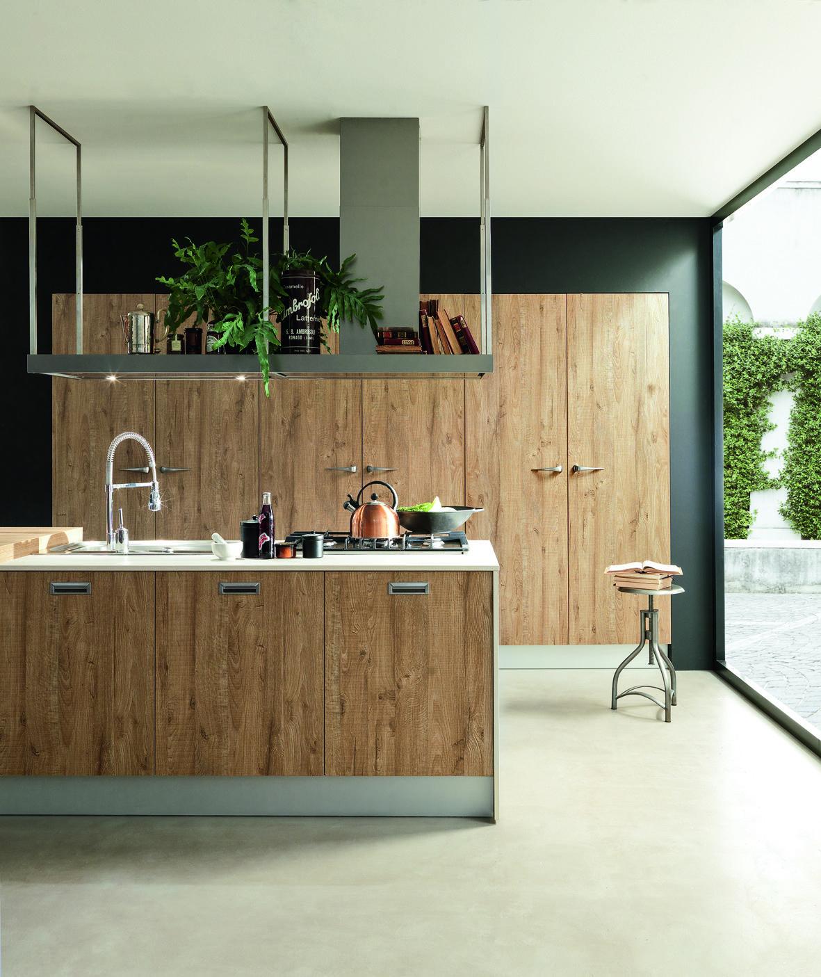 7. ice industrial edition di febal è una cucina dominata dalla ... - Cappa Cucina Sospesa