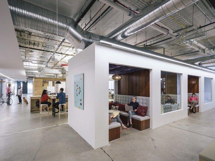 espace de travail innovant pour un bureau lumineux. Black Bedroom Furniture Sets. Home Design Ideas