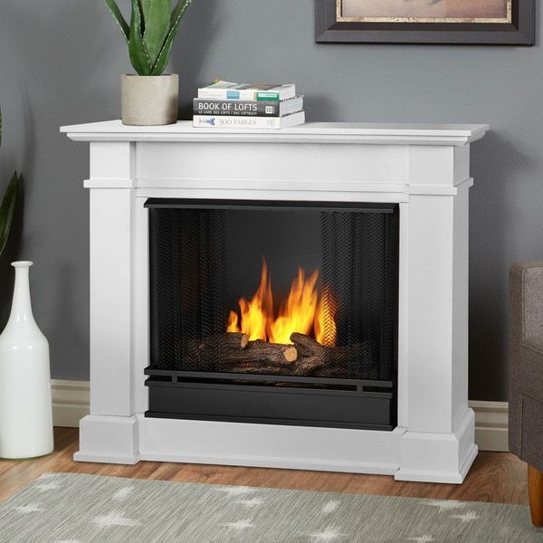Real Flame Devin 363 Inch White Gel Fuel Fireplace House