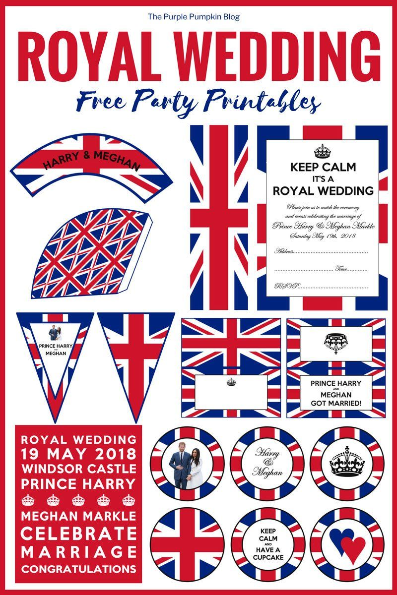 Post-Royal Wedding Printables! Free British/Royal Party Printables ...