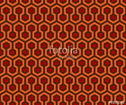 Vector Abstract Seamless Pattern Overlook Hotel Carpet The