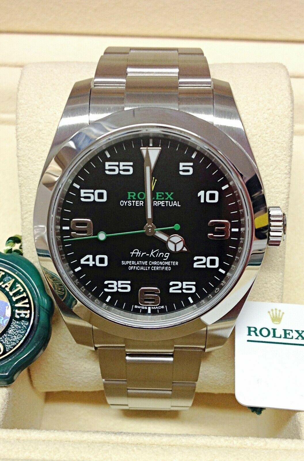 Rolex AirKing 116900 40mm Black Dial Oyster Bracelet BOX