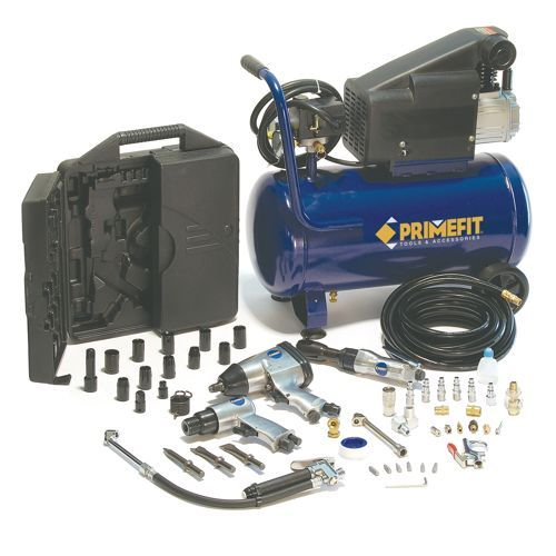 Primefit Ultimate Garage 6 Gallon Air Compressor 52 Piece Air Tool Set Ultimate Garage Air Tools Air Compressor