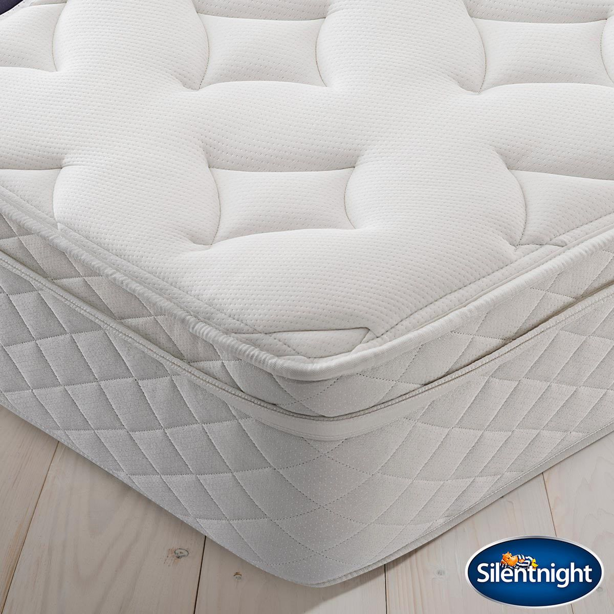 Silentnight Miracoil Memory Cushion Top Mattress Double