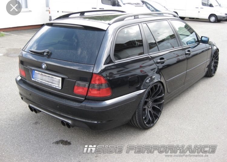 Bmw E46 Touring Insideperformance Black Schwarz Exhaust