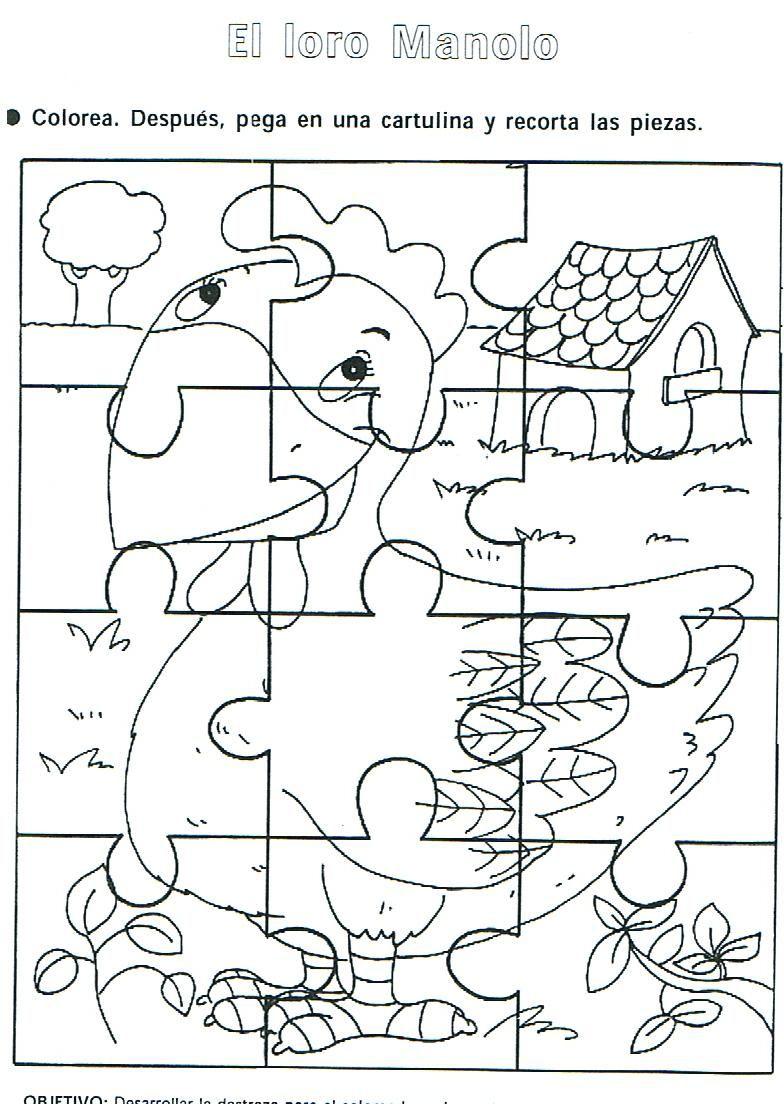 Fichas Infantiles: Rompecabezas para imprimir de animales ...