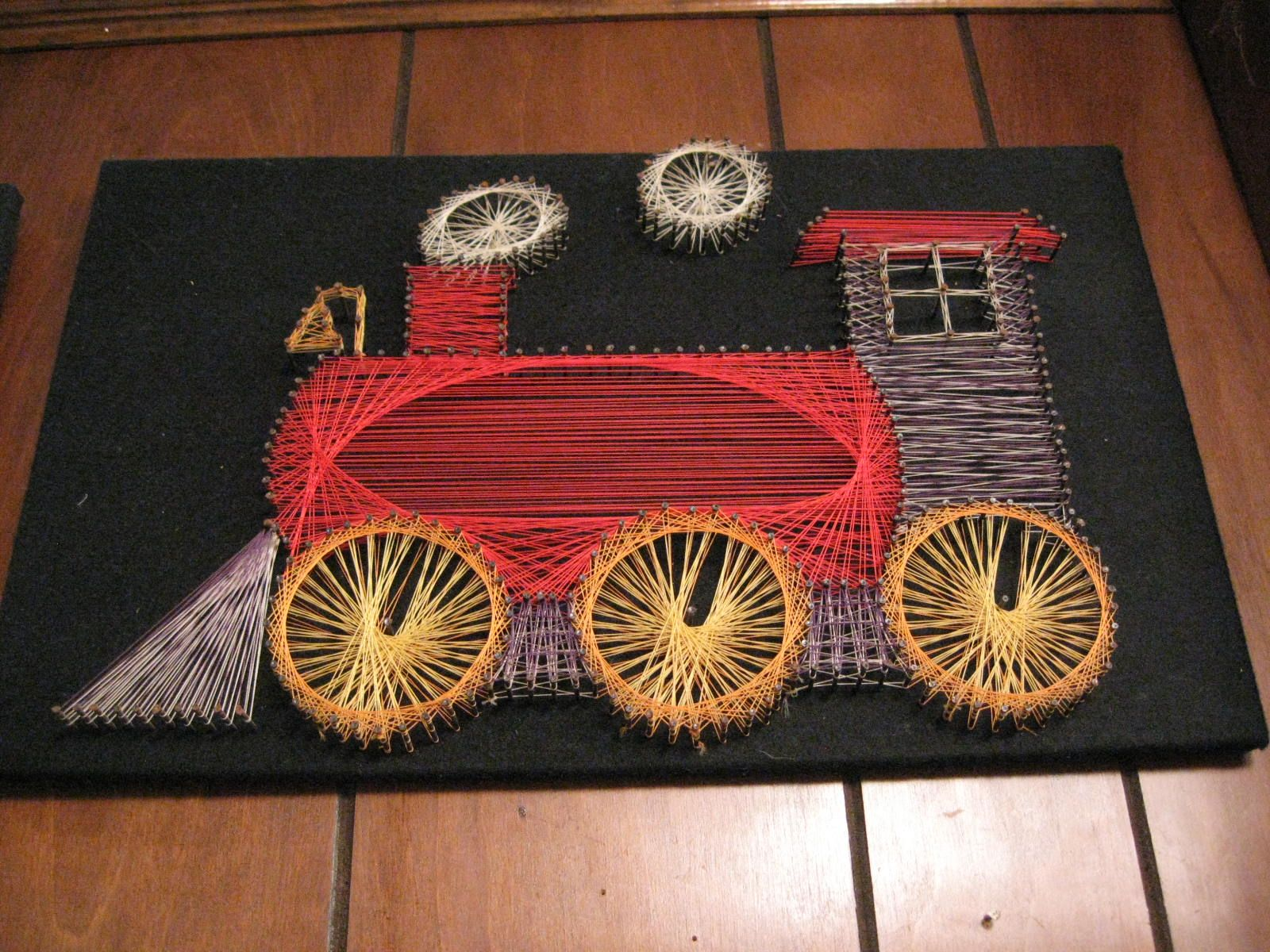 1970S String Art  Train