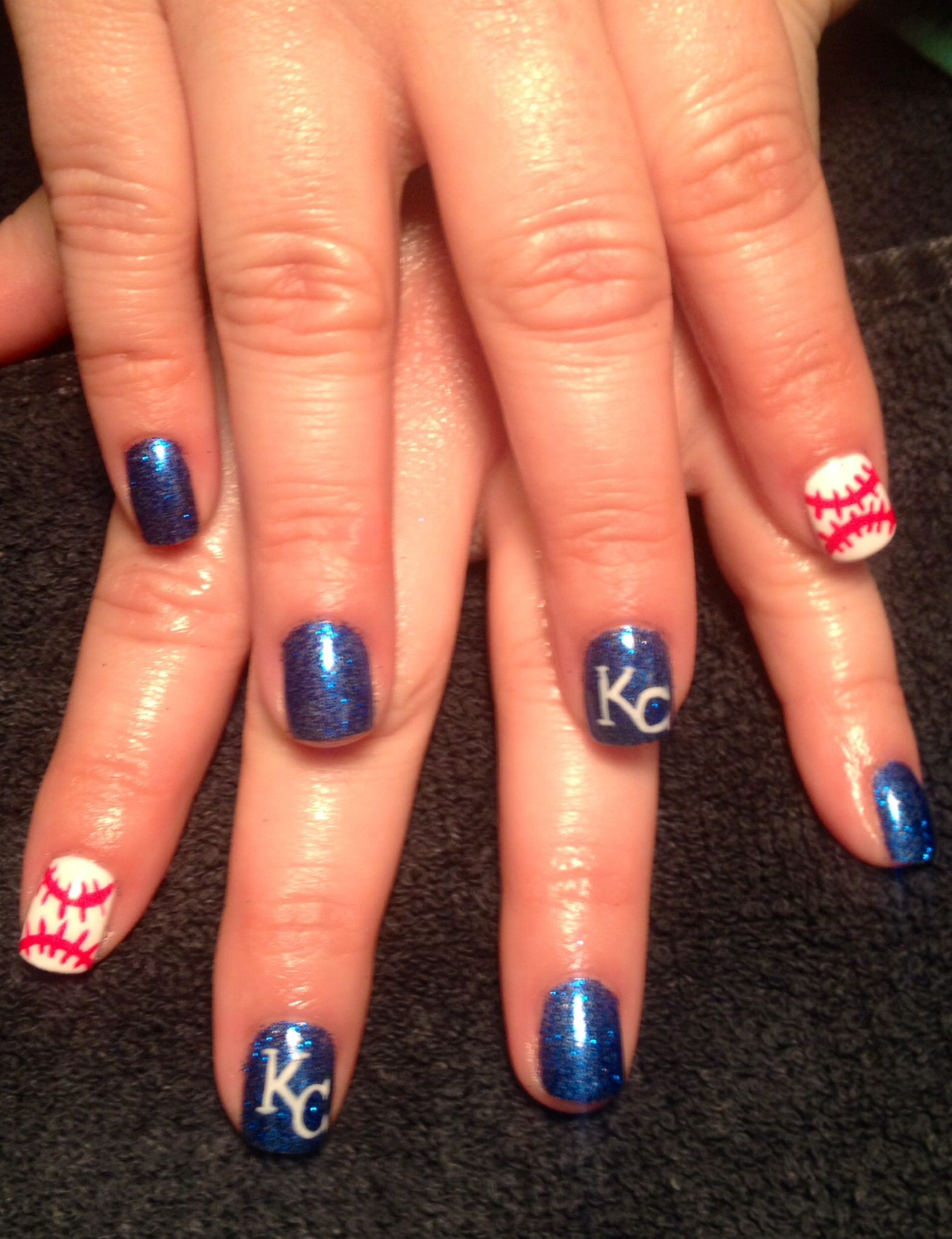 KC royals | Nail art creations | Pinterest | Hair makeup and Makeup