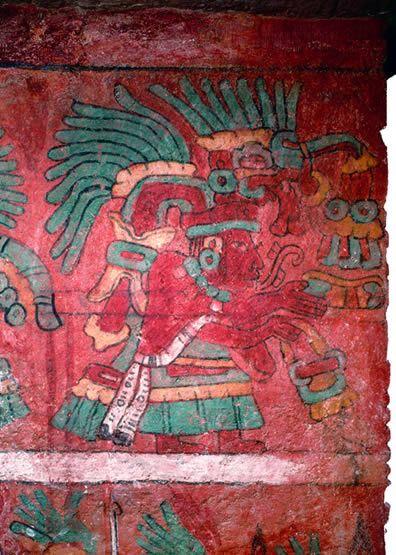 Fresco de Sacerdote. Palacio de Tetitla, Teotihuacán, México.