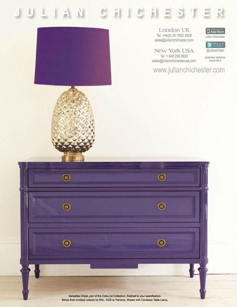 Orchid Purple Painted Furniture From Julian Chichester · Purple DresserPurple  ...