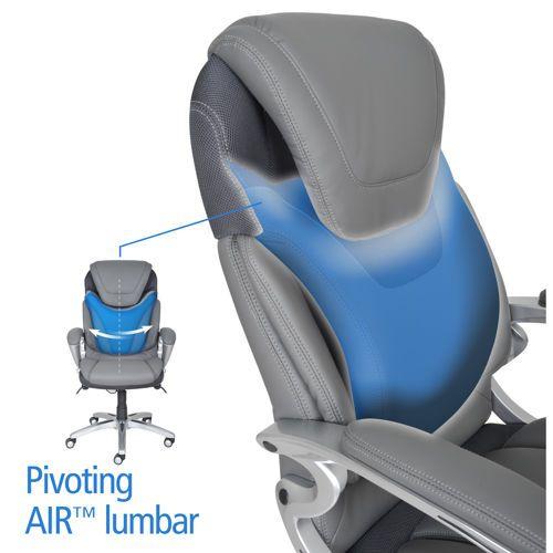 Via Thomasville Air Health Wellness Executive Office Chair Executive Office Chairs Executive Chair Grey Chair