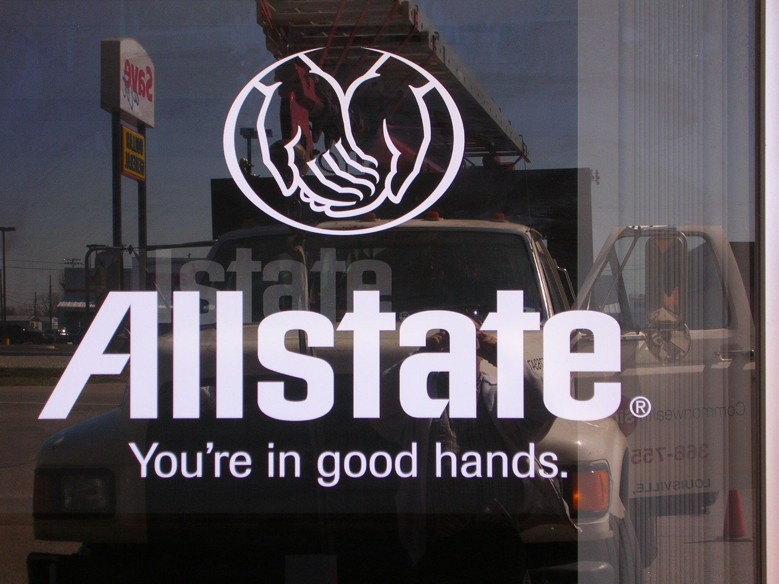 Allstate Door vinyl allstate monwealthsign