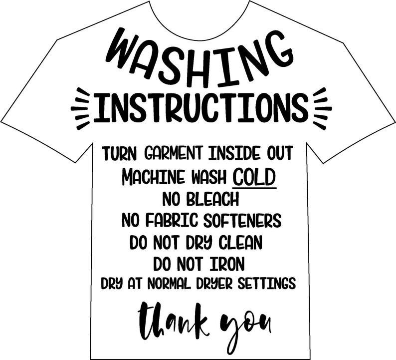 Care instructions for clothing in 2020 Instruction