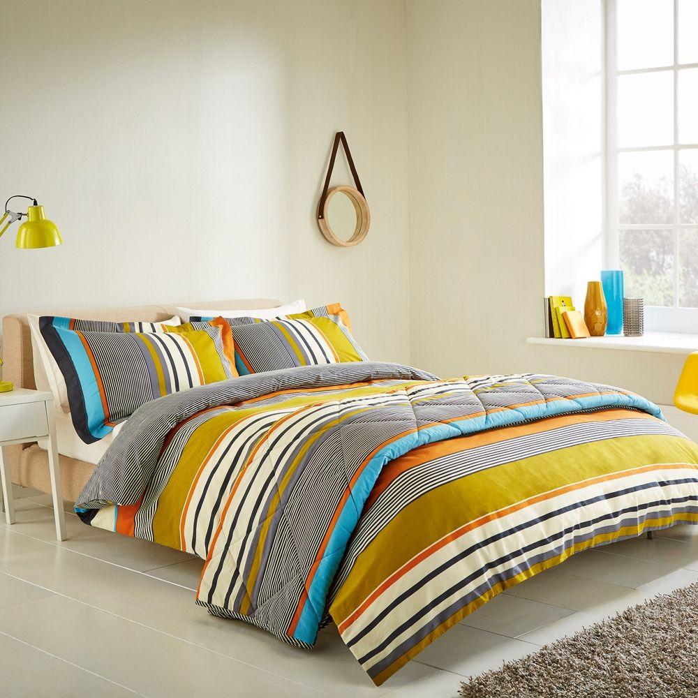 1 47304 Harlequin Bali Stripe Duvet Cover Set