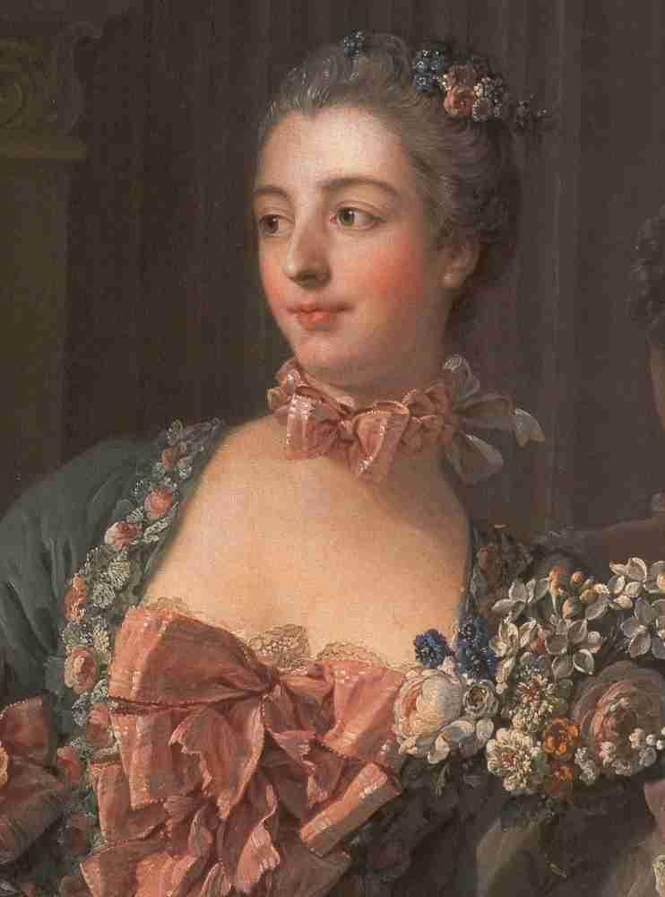 boucher marquise de pompadour 1756 detail madame de pompadour portrait by fran 231 ois boucher