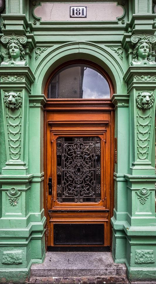 Heidelberg, Germany door ---  love all of this -  the color the lions .......  whoahhh  yeah !