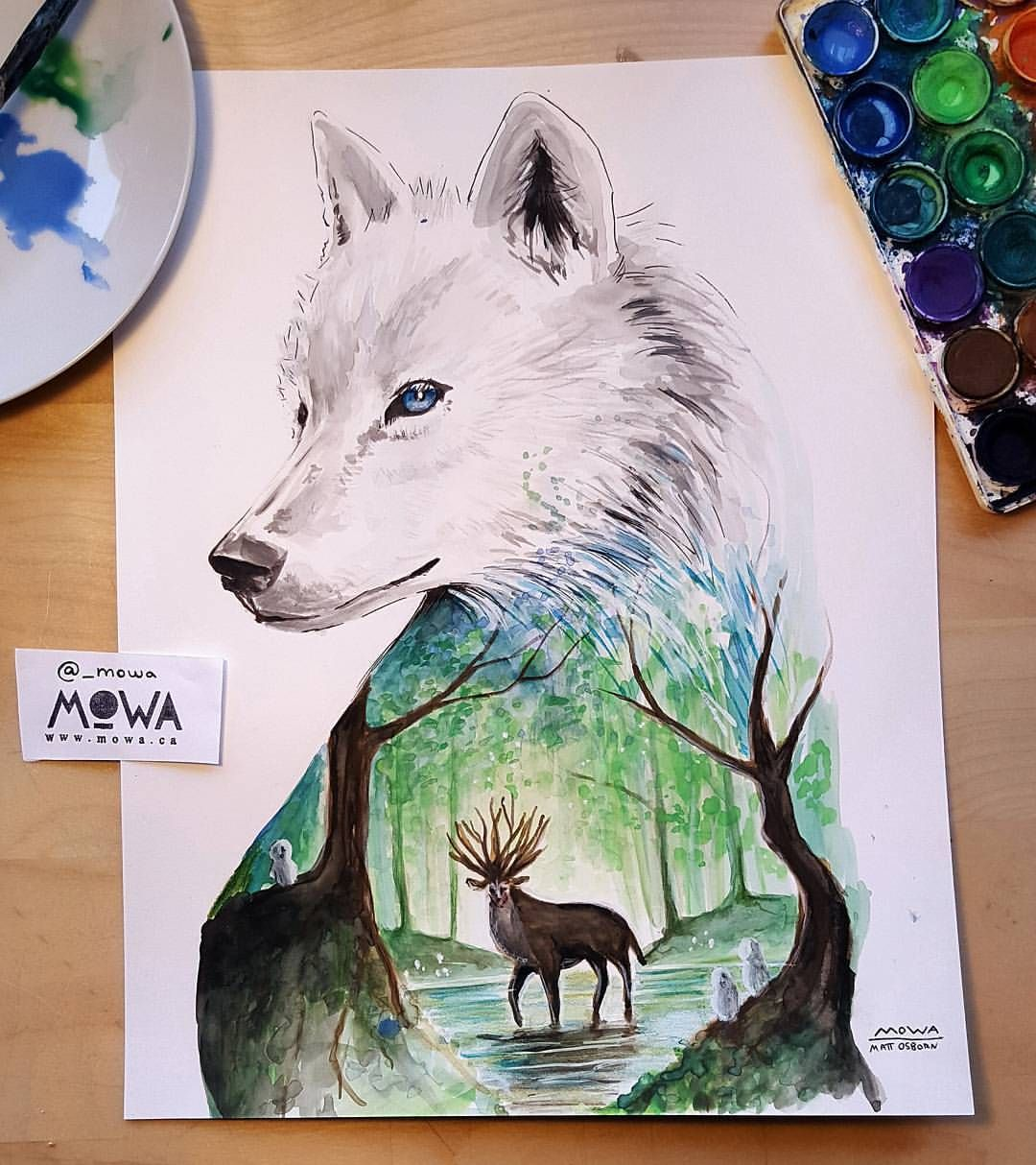 MOWA Op Instagram Another Studio Ghibli Inspired Painting Princess Mononoke Prints Available At