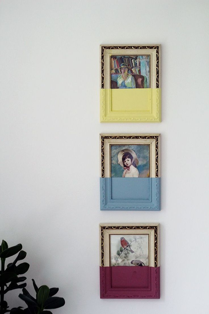 Paint dipped picture frames thrift store finds modern wall and thrift diy modern wall decor create contemporary dipped wall art out of thrift store finds solutioingenieria Gallery