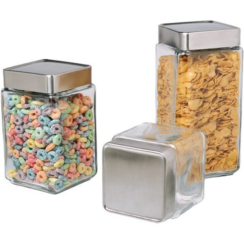 These Stackable Glass Kitchen Canisters Are Available In 1 15 2 Awesome Glass Kitchen Containers Review