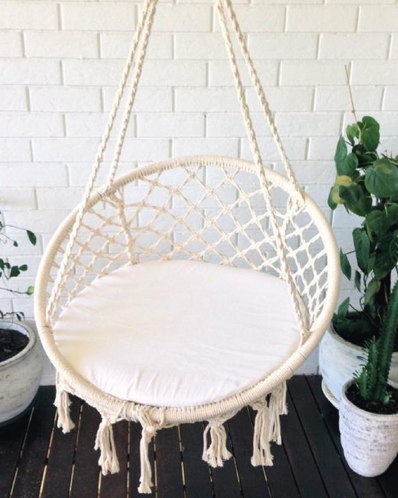 Image Of Crochet Hanging Chair Crochet Hammock Hammock Chair Hanging Chair
