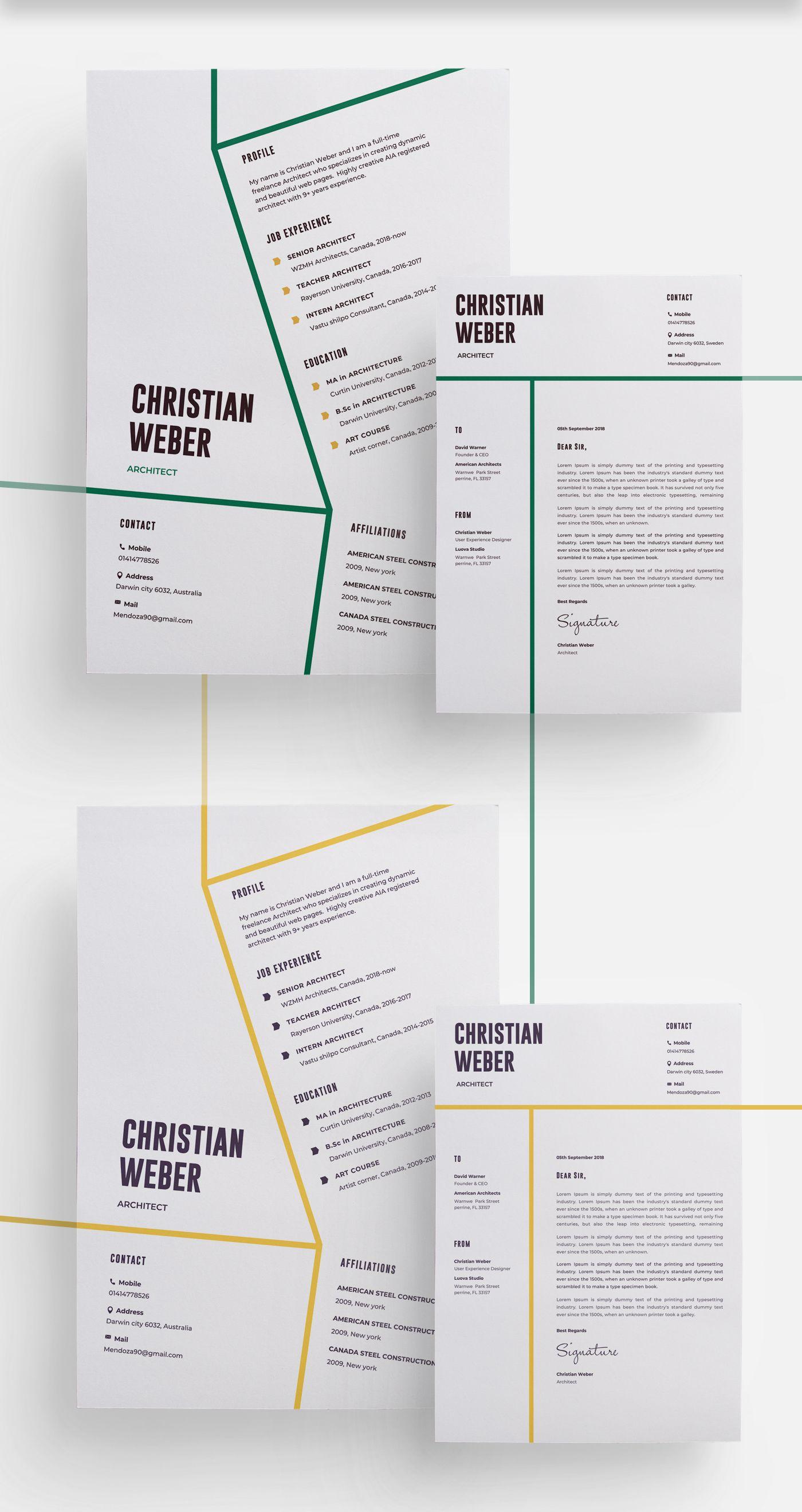 Architects Resume Template | Getresume.co | Pinterest | Architect ...